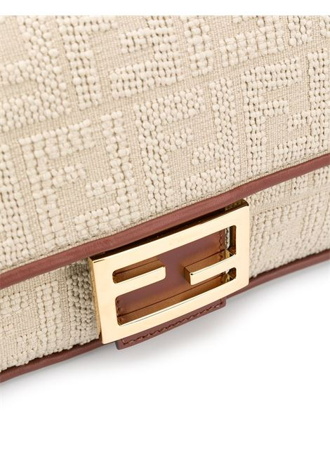 Beige Baguette shoulder bag featuring contrasting brown trim FENDI |  | 8BR600-ACODF1C0W