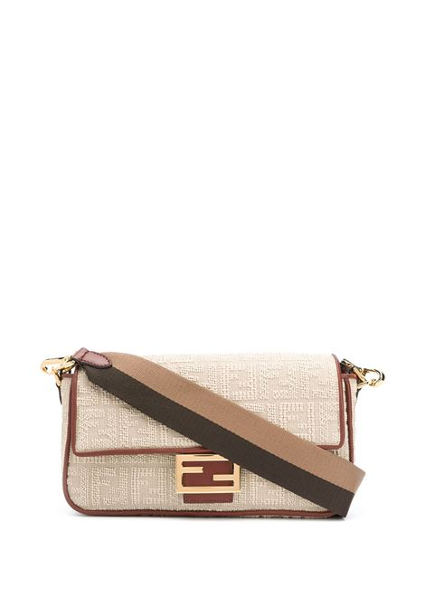 Beige Baguette shoulder bag featuring contrasting brown trim FENDI |  | 8BR600-ACODF1C0W