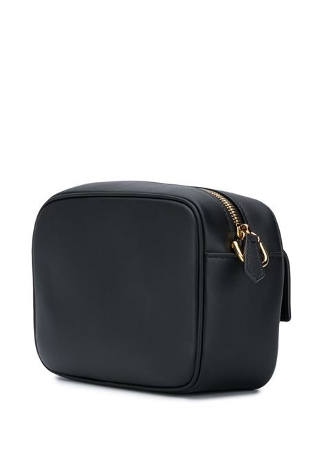Camera bag in pelle nera con tracolla marrone staccabile FENDI | Borse a tracolla | 8BS042-A5DYF0KUR