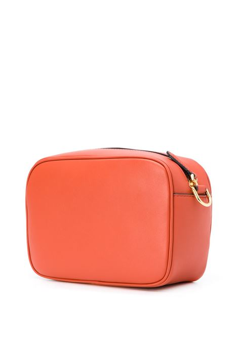 Camera bag in pelle arancione con tracolla marrone staccabile FENDI | Borse a tracolla | 8BS042-A5DYF1C6H