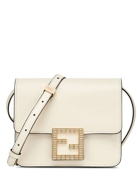 White calf leather Fendi Fab crossbody bag featuring crystal embellishment FENDI |  | 8BT326-AAIWF0K7E