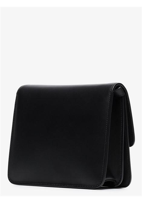 Borsa a tracolla Fab in pelle nera con placca logo Fendi dorata FENDI | Borse a tracolla | 8BT326-AAIWF0KUR