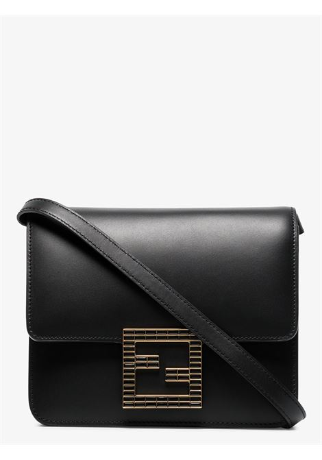 Black leather Fab shoulder bag featuring gold Fendi logo plaque FENDI |  | 8BT326-AAIWF0KUR