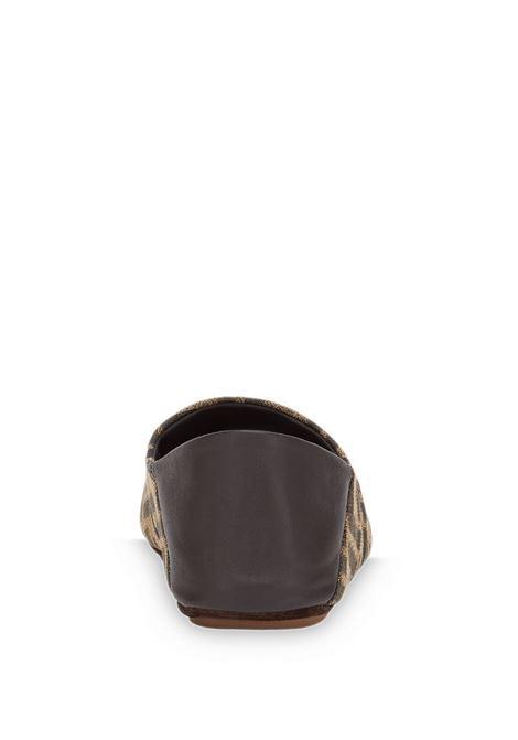 Loafers in pelle marrone con motivo FF Fendi all over FENDI | Scarpe basse | 8P8082-AEGVF1D1C