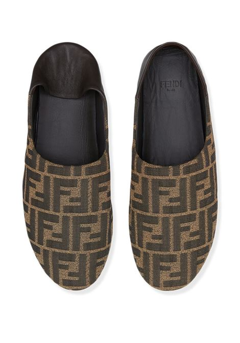 Brown leather loafers featuring FF Fendi motif all over  FENDI |  | 8P8082-AEGVF1D1C