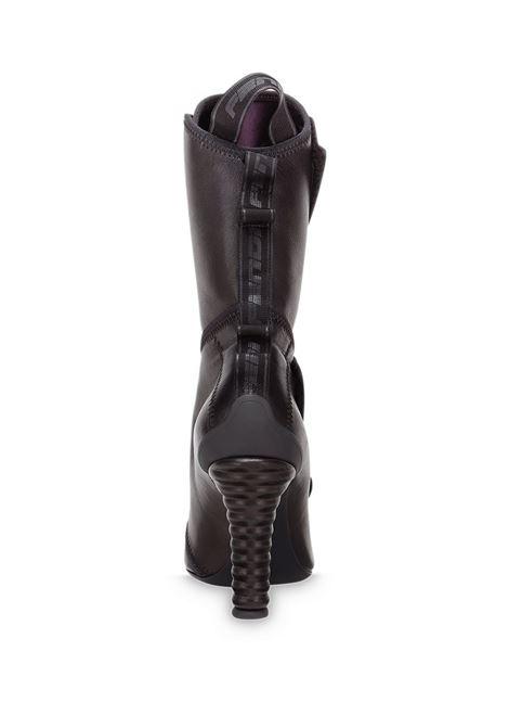 Stivaletti al polpaccio con cinturino in pelle di agnello nera FENDI | Stivali | 8T8019-AEG0F1OS5