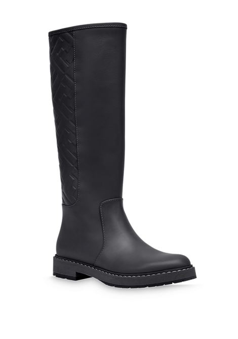 Black calf leather FF-embossed high boots  FENDI |  | 8U8036-AC7YF0ABB