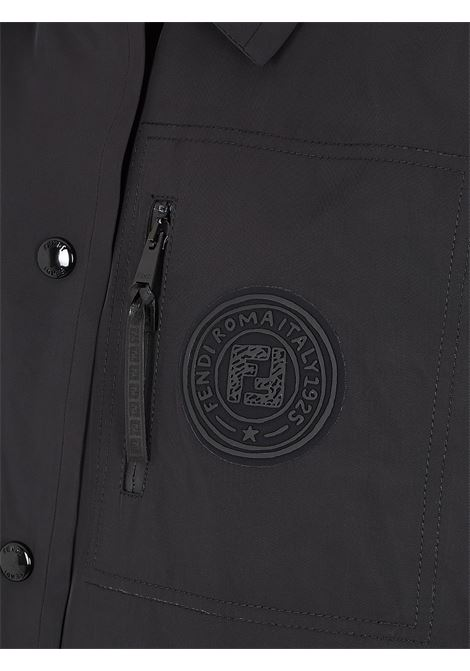 Black cropped jacket featuring cropped lenght, Fendi logo patch to the front FENDI |  | FAA490-ADHQF0GME