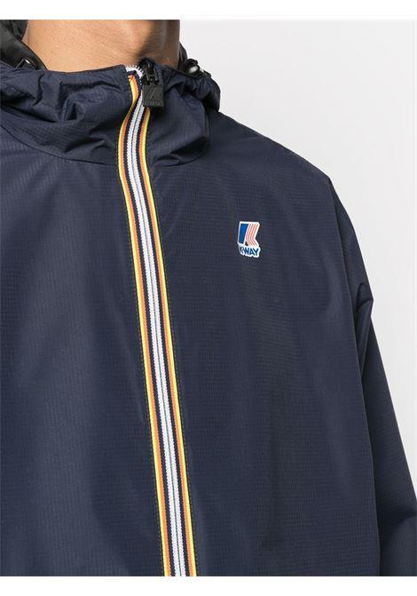 Blue reversible windbreaker jacket from FENDI x KWay  FENDI |  | FAA803-AERRF0D0C