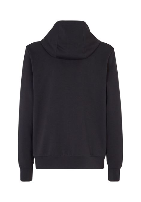 Black cotton-blend FF brown panel zipped hoodie featuring drawstring hood FENDI |  | FAF533-AD3DF0GME