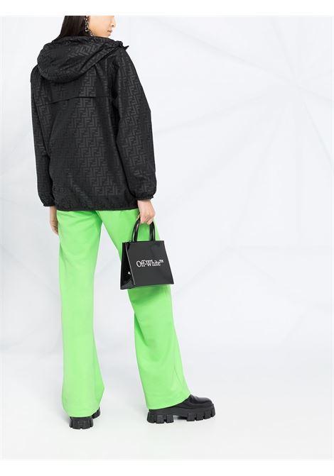Black nylon Fendi x K-Way® reversible windbreaker jacket featuring drawstring hood FENDI |  | FAN019-AERRF0GME