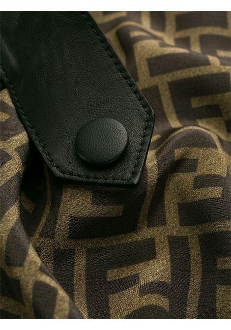 Giacca corta in pelle nera in pelle di agnello FENDI | Giubbini | FPJ761-NBAF0GME