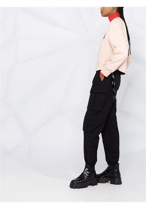 Felpa in cotone rosa chiaro con logo Fendi ricamato sul petto FENDI | Felpe | FS7102-AFLVF1BW6