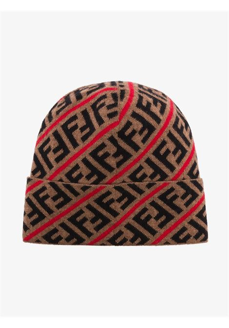 beige wool FF motif beanie featuring a knitted style FENDI |  | FXQ056-AA11F19SE