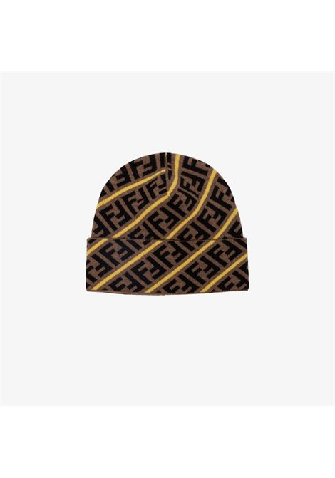 beige wool FF motif beanie featuring a knitted style FENDI |  | FXQ056-AA11F19SG