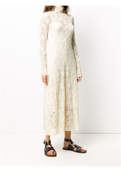 neutral cotton-blend embroidered dress featuring high neck FORTE_FORTE |  | 7568BURRO