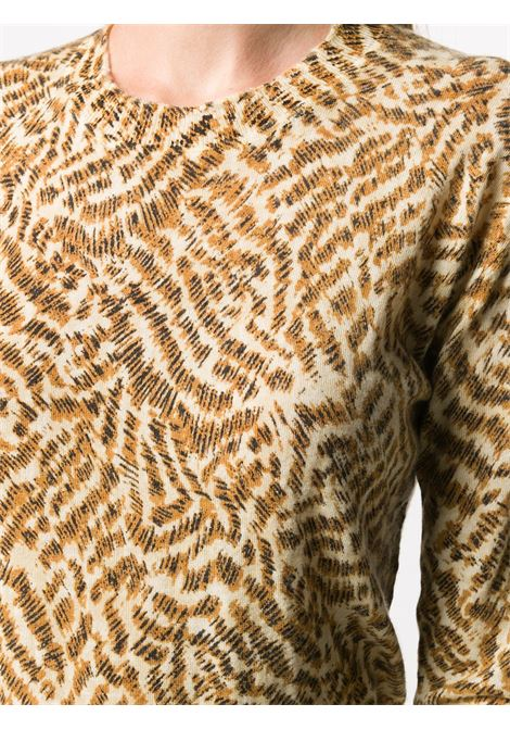 Brown 100% cashmere long-sleeve knitted top  FORTE_FORTE |  | 7595ORO