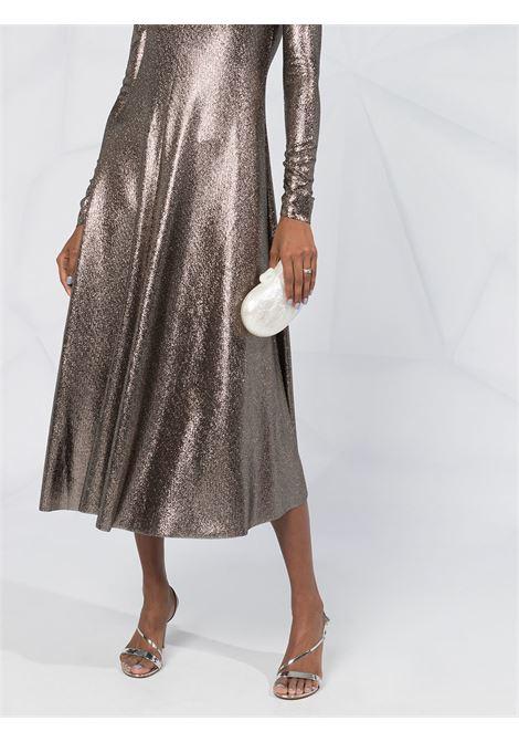 copper-tone metallic shimmer midi dress FORTE_FORTE |  | 7613NERO