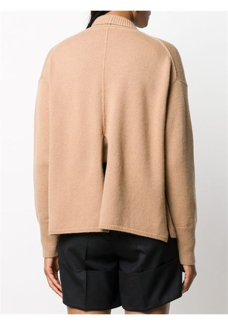 Beige virgin wool-cashmere blend open-front cardigan  FORTE_FORTE |  | 7626CAMMELLO