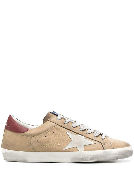 Sneaker Superstar in pelle e tessuto marrone chiaro effetto consumato GGDB | Sneakers | GMF00101-F00058780487