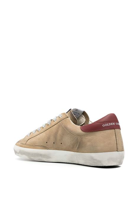Light brown leather and fabric Superstar distressed-effect sneakers  GGDB |  | GMF00101-F00058780487