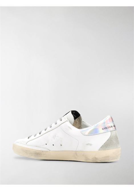 Sneaker Superstar in pelle di vitello bianca con  stella nera sui lati GGDB | Sneakers | GMF00102-F00062510347