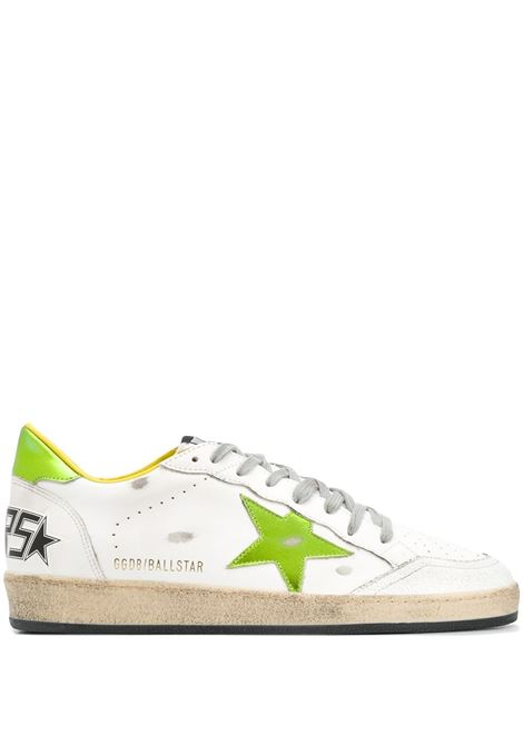 White and lime green leather Ball Star low-top sneakers GOLDEN GOOSE |  | GMF00117-F00038310293