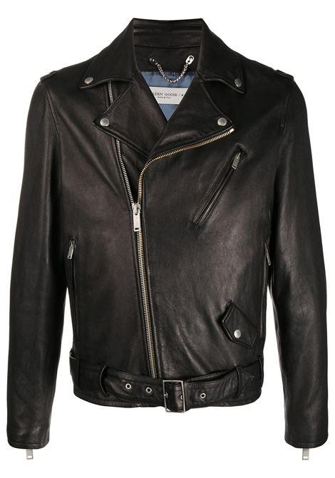 Black leather belted waist biker jacket   GOLDEN GOOSE |  | GMP00297-P00019690100