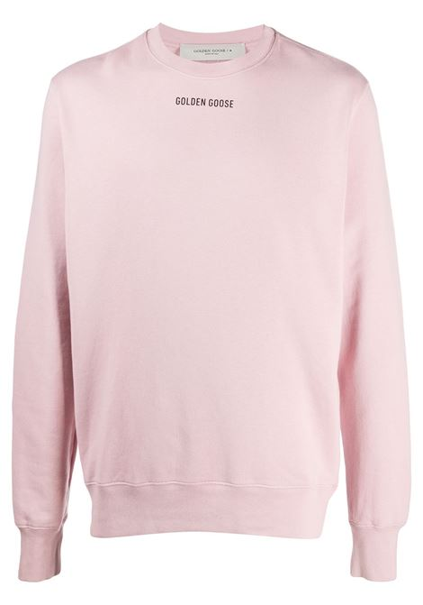 Pink cotton Sneakers Lover sweatshirt  featuring slogan print to the rear GOLDEN GOOSE |  | GMP00470-P00020725532