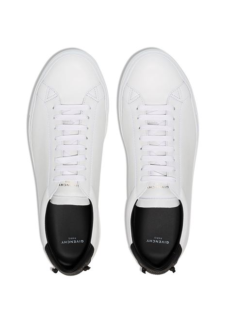 white calf leather urban street sneakers with black detail on the back GIVENCHY |  | BH0002H0FS116