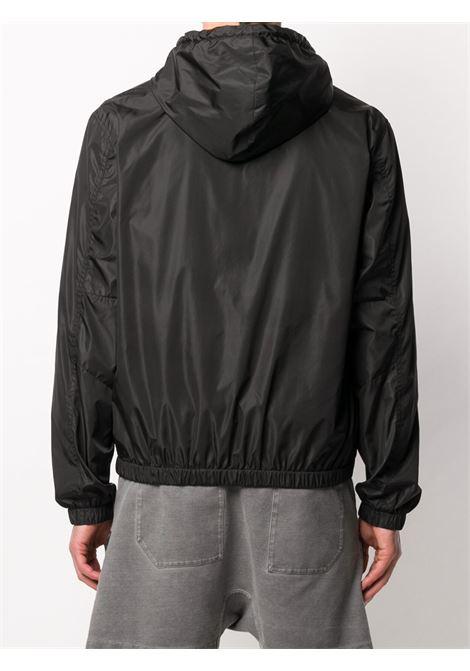 giacca a vento nera in nylon con cappuccio e coulisse GIVENCHY | Giubbini | BM00EZ109A001