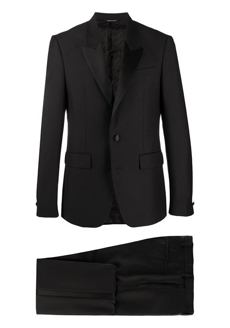 black slim-fit tuxedo suit featuring slim fit GIVENCHY |  | BM102J100H001