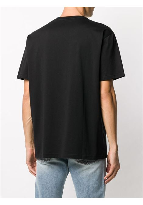 T-shirt in cotone con logo Givenchy nero GIVENCHY | T-shirt | BM70YN3002001