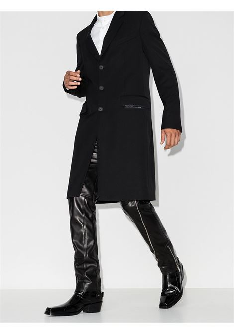 black wool blend single breasted coat  GIVENCHY |  | BMC041133E001