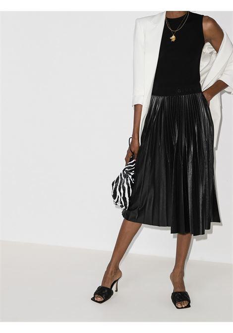 abito midi nero con plissè di raso GIVENCHY | Abiti | BW20PM3Z26001