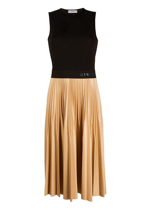 Black and beige cotton-blend pleated-skirt dress   GIVENCHY |  | BW20PM3Z26007