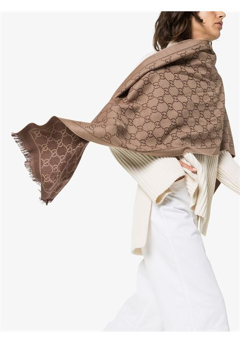 Gucci print cream reversible wool scarf GUCCI |  | 133483-3G2002764