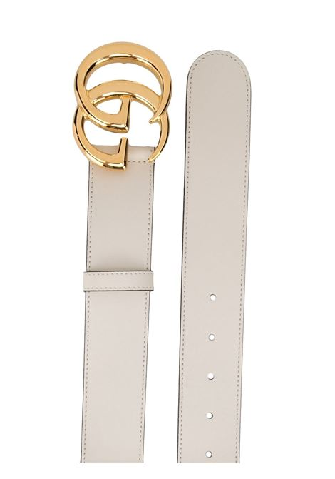 white and gold 4cm calf leather belt from featuring gold-tone GG buckle fastening GUCCI |  | 400593-0YA0O9022