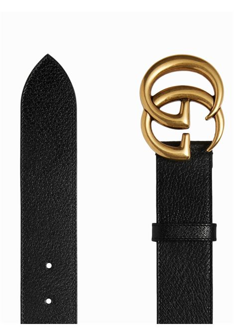 black calf leather 4cm belt with doube G buckle GUCCI |  | 406831-DJ20T1000