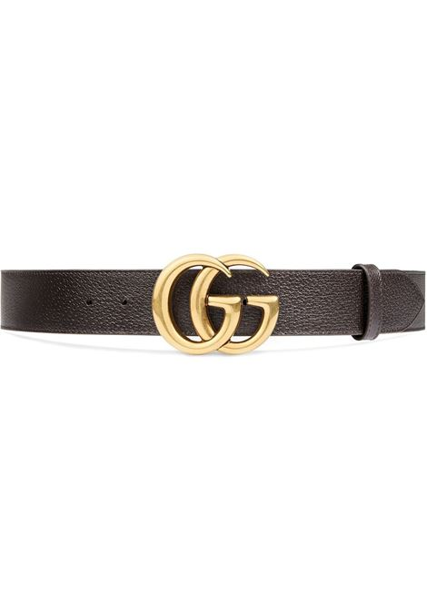 dark brown calf leather 4cm belt with doube G buckle GUCCI |  | 406831-DJ20T2145