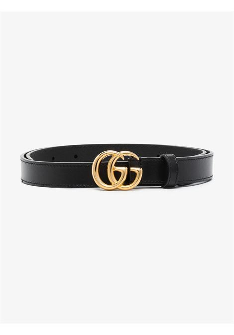 Black leather 2 cm GG Marmont belt  GUCCI |  | 409417-0YA0O1000