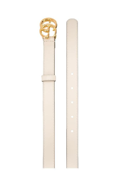 White leather 2 cm double G belt  GUCCI |  | 409417-0YA0O9022