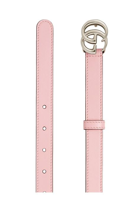 Pastel pink calf leather 2cm belt featuring Gucci logo buckle GUCCI |  | 409417-AP00P5815
