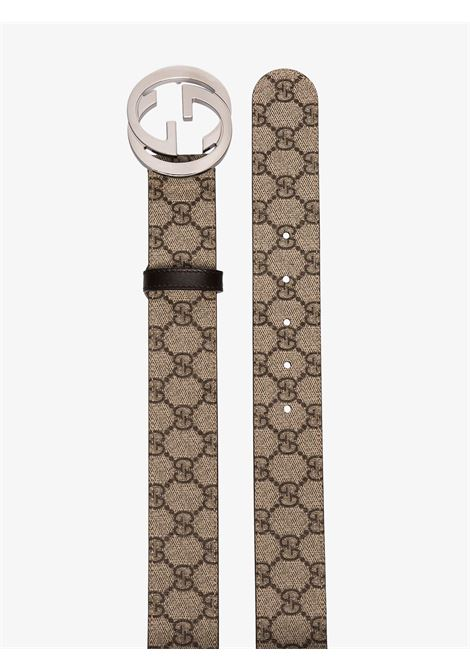 4cm beige belt with Gucci Supreme print  GUCCI |  | 411924-KGDHN9643