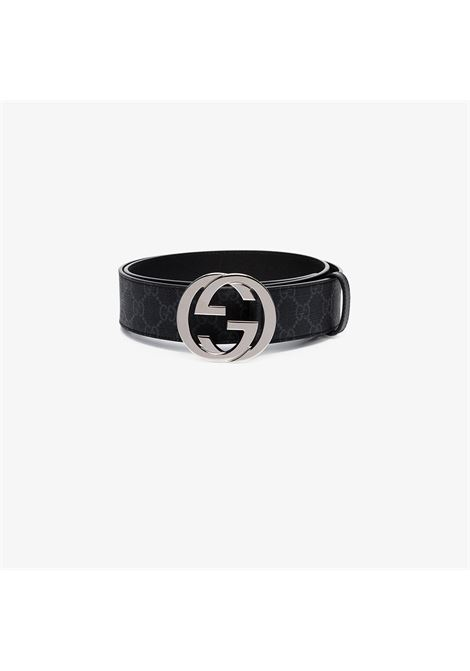 4cm black belt with Gucci Supreme print  GUCCI |  | 411924-KGDHX8449