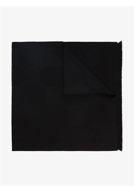 Gucci all over logo wool black scarf.Measurement: 45x195  GUCCI |  | 581537-3G2001000