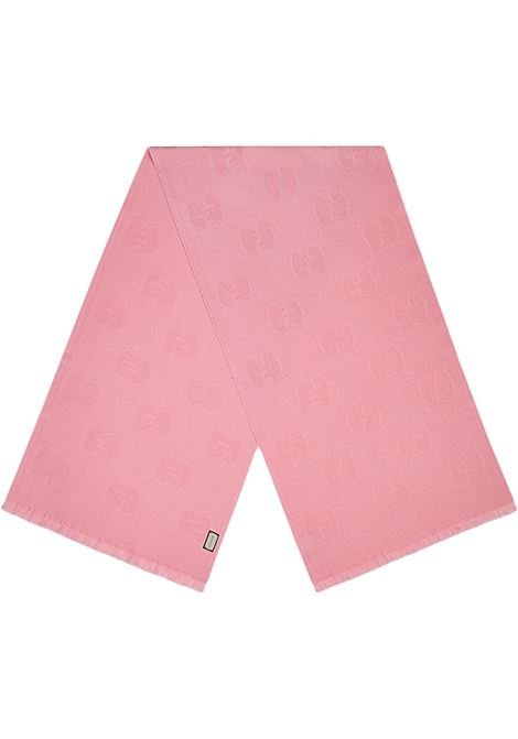 Gucci all over logo wool pink scarf.Measurement: 45x195  GUCCI |  | 581537-3G2005800
