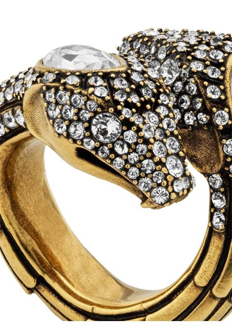 gold-tone brass metal crystal embellished snake ring GUCCI |  | 604067-J1D508066