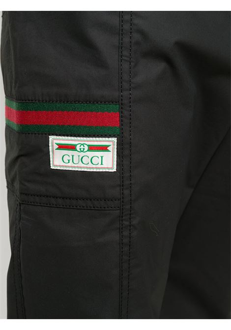 black Gucci Web-detail track pants  GUCCI |  | 604171-XDBCH1043