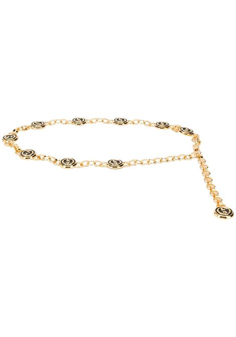 Gold-tone metal chain-link Gucci charm belt  GUCCI |  | 615467-I11DS8192